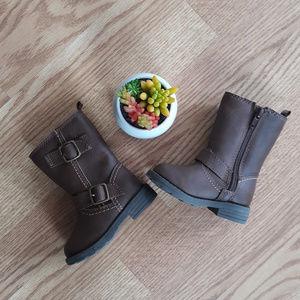 NWOT Carters Baby Girl Zipper Boots